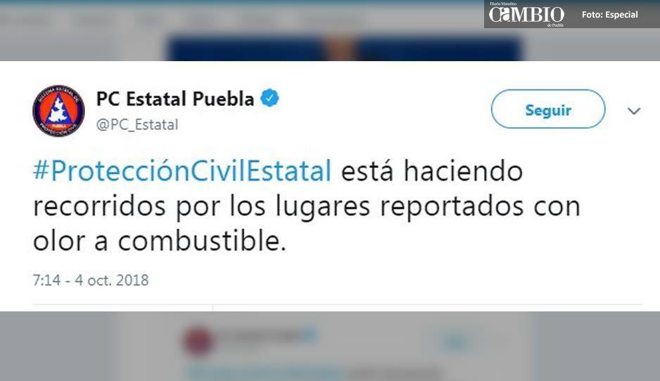 ¡Alerta Puebla! Fuerte olor a combustible en colonias del sur