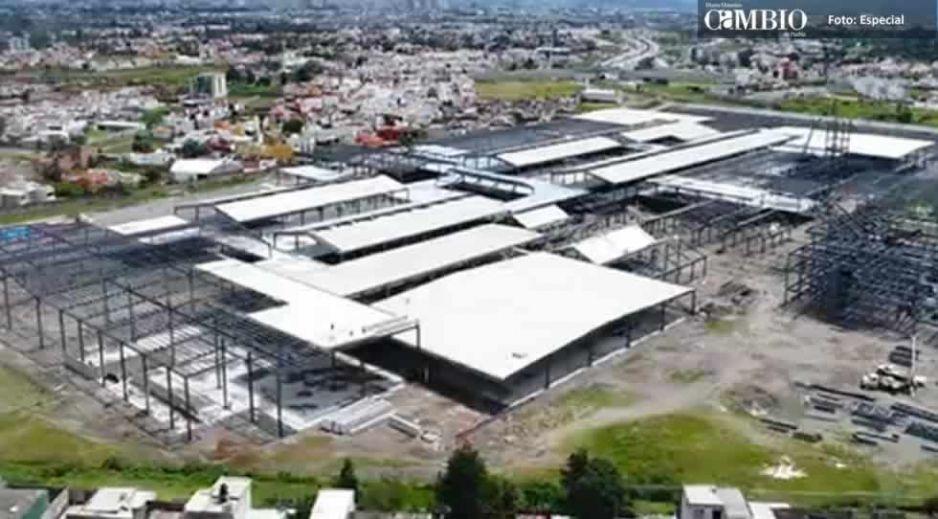 Comuna cholulteca clausura obras en Explanada Puebla