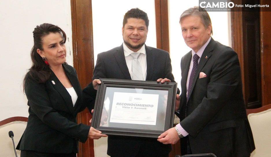 Congreso del estado otorga al embajador de Rusia un reconocimiento por su labor