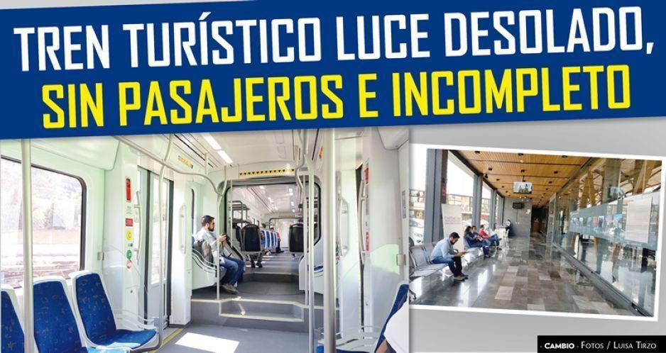 VIDEO: Tren Turístico luce desolado, sin pasaje e incompleto pese a millonaria inversión