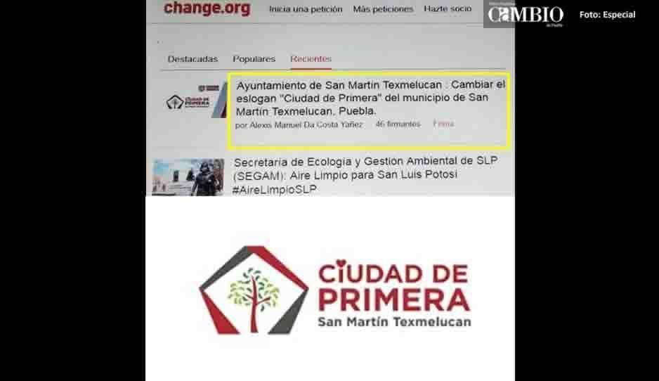 Por ofensivo y discriminatorio, juntan firmas para cambiar slogan del ayuntamiento de Texmelucan