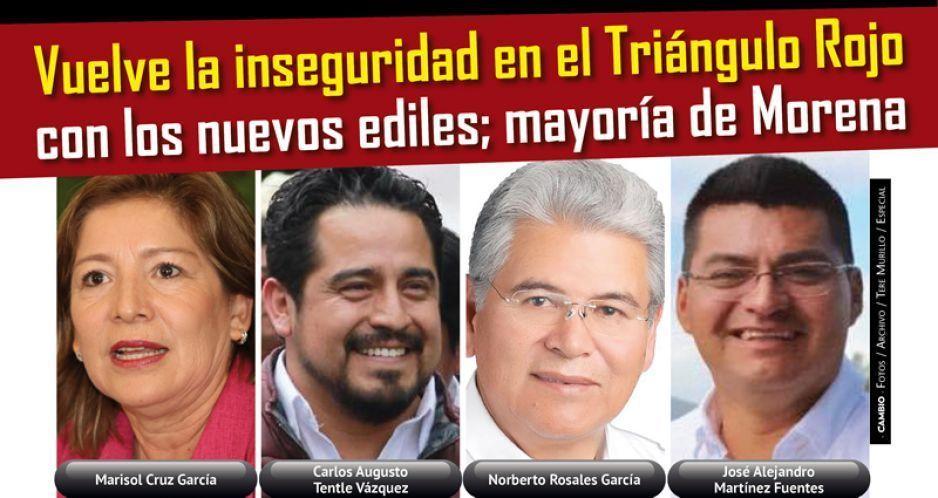Vuelve la inseguridad en el Triángulo Rojo con los nuevos ediles; mayoría de Morena