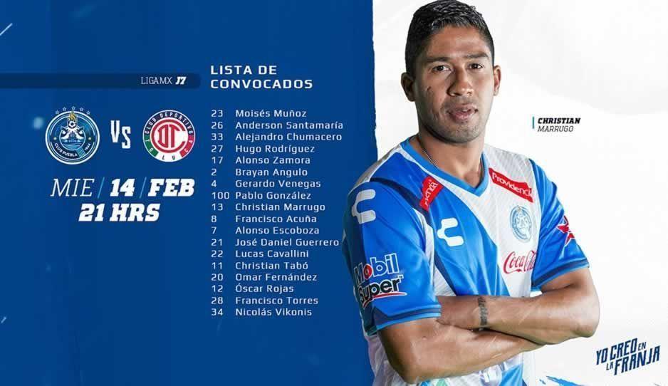 Puebla vs Toluca, 14 de febrero, Liga Mx — EN VIVO