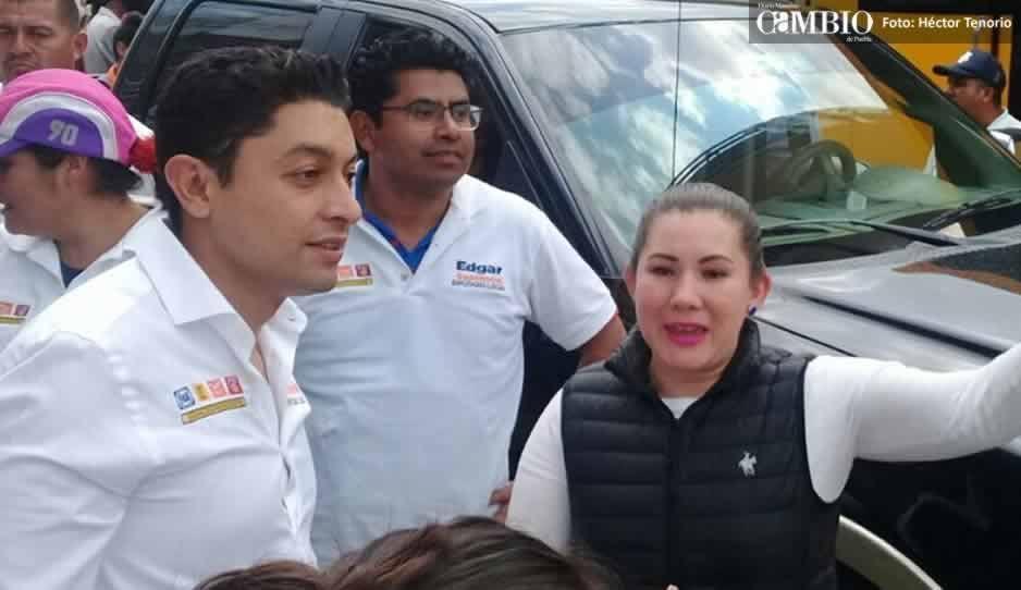 Edgar Salomón anuncia mega evento en Texmelucan para Martha Erika