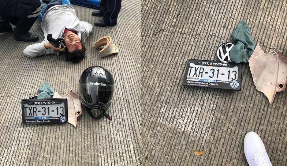 Atropella a estudiante de medicina, se da a la fuga pero se le cayó la placa