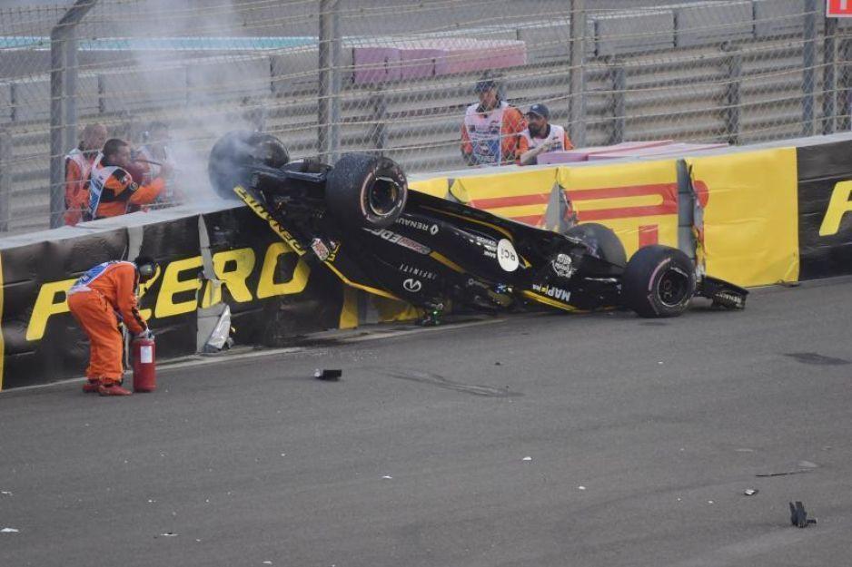 VIDEO: Nico Hülkenberg sufre este aparatoso accidente en el Gran Premio de Abu Dabi