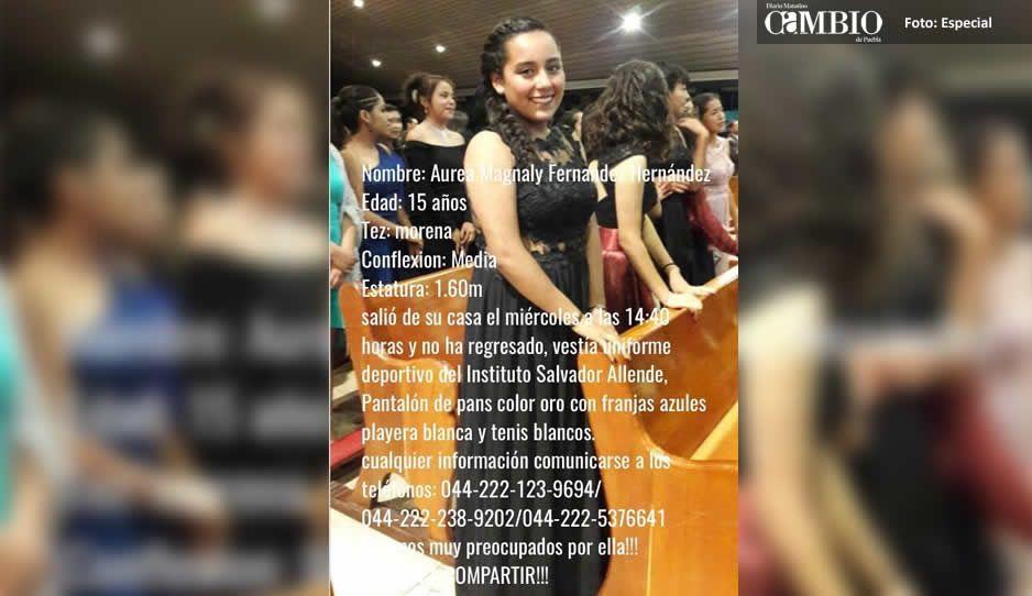Buscan a Aurea Magnaly Fernández Hernández, joven de 15 años desaparecida en Puebla