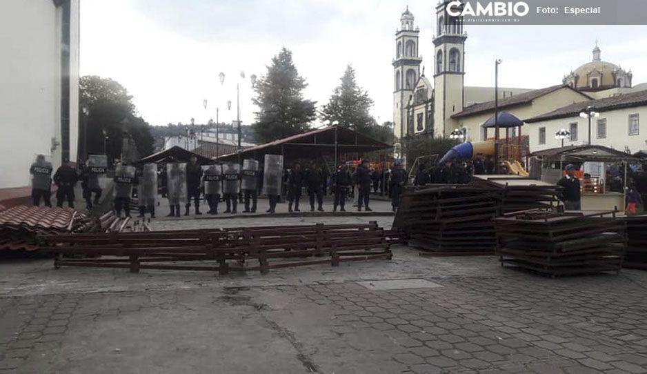 Artesanos en Zacatlán amenazan con volver a instalarseen el zócalo