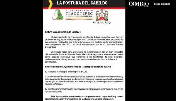 Alcalde de Tlacotepec se aferra a su cargo; ofrece pagar adeudo