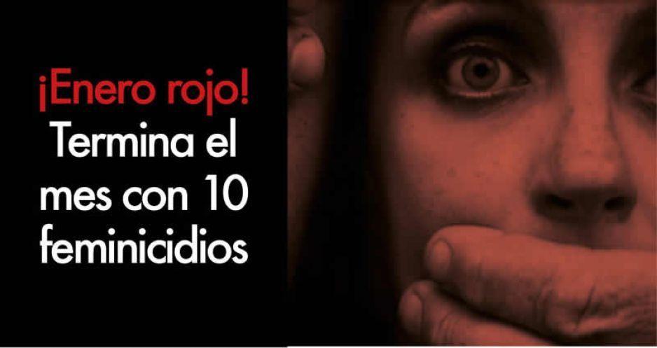 Cierra Enero Rojo en materia de feminicidios; se registran 10 casos, pero FGE reconoce sólo 5