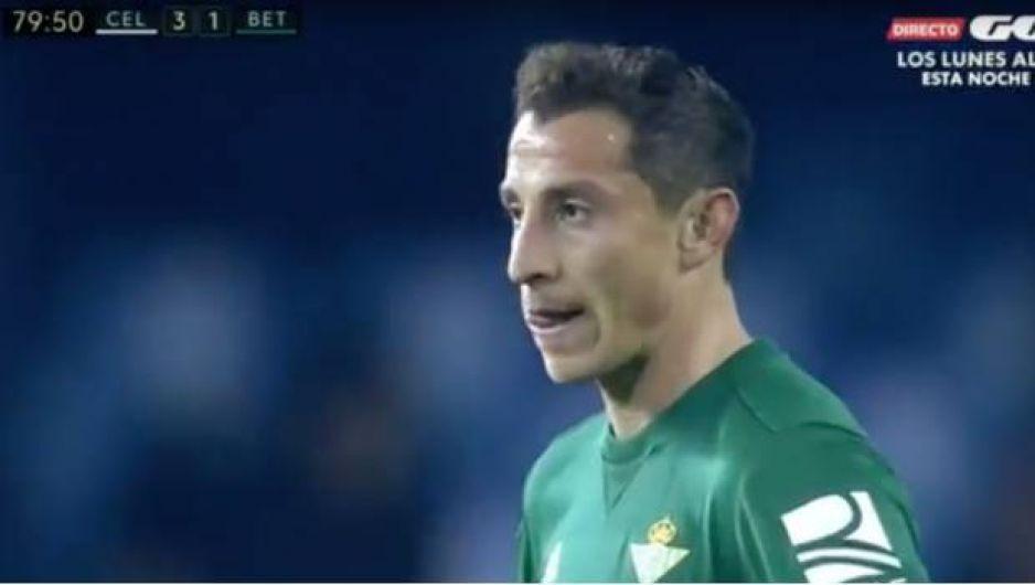 Guardado metió gol, pero el Betis cayó frente al Celta