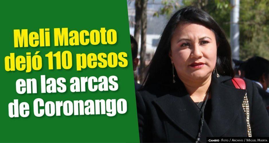 Meli Macoto dejó 110 pesos en las arcas de Coronango