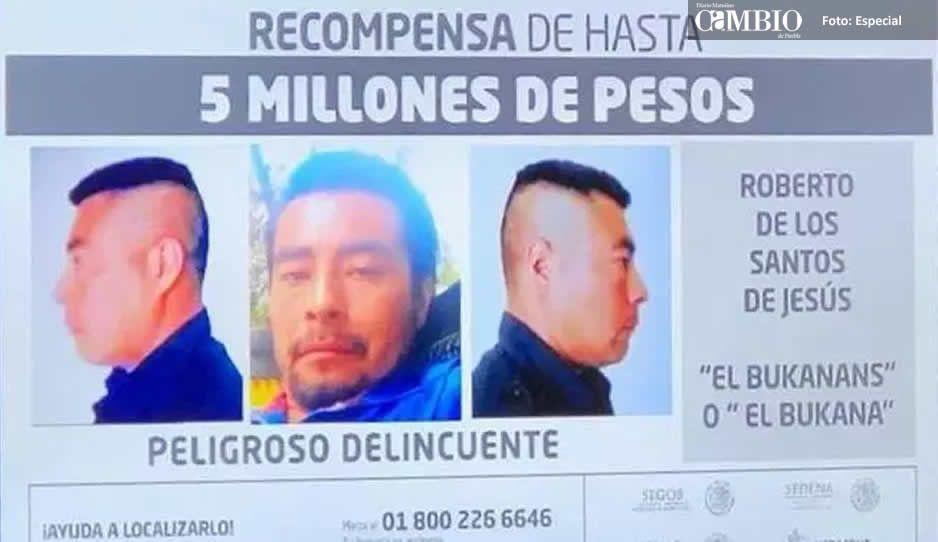 """Elevan recompensa a 5 millones de pesos a quien de información sobre """"El Bukanas"""""""