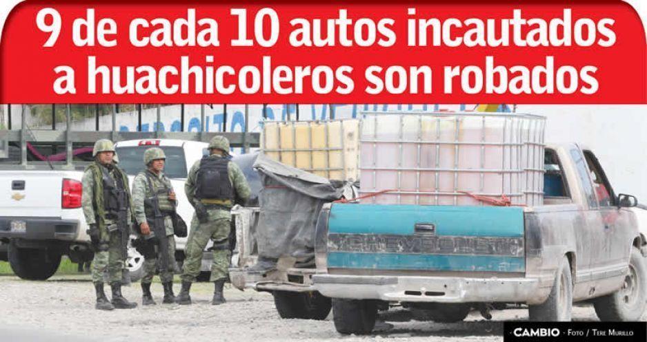 9 de cada 10 autos incautados a huachicoleros son robados