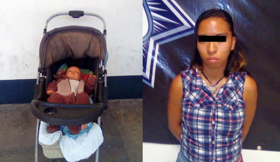 Aseguran a rata que usaba bebé falso para robar en tiendas