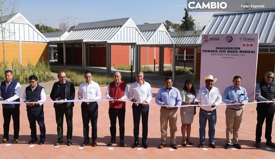 Inaugura Gali infraestructura educativa en Santa Isabel Cholula