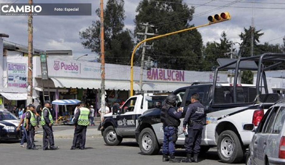 Balacera en Mercado de Amalucan tras frustrar robo a comerciante