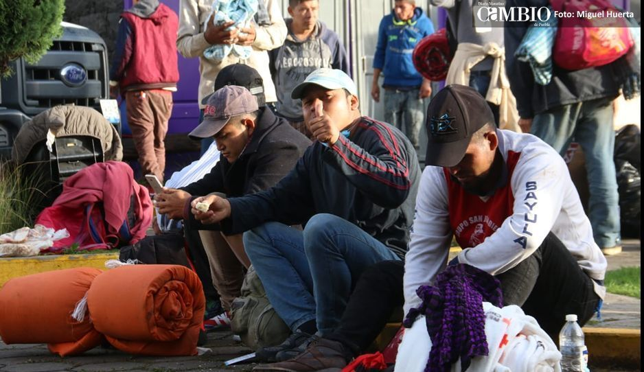 CNDH y gobierno estatal resguardan a migrantes en el Polideportivo Xonaca