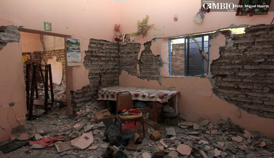 Se le pasó a la Sedatu censar daños del 19-S en casas de seis municipios