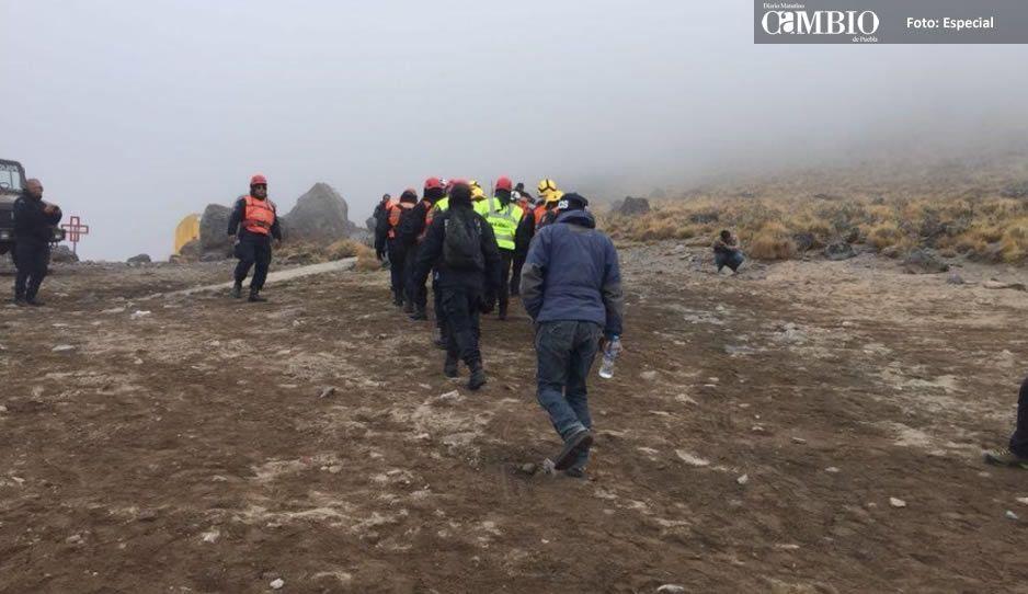 Rescatan cadáver de alpinista a más de 5 mil metros de altura del Citlaltépetl