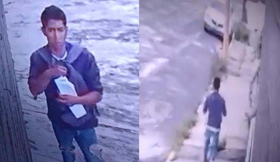 Así opera raterillo de autopartes en San Manuel ¡Ayuda a identificarlo! (FOTOS Y VIDEO)