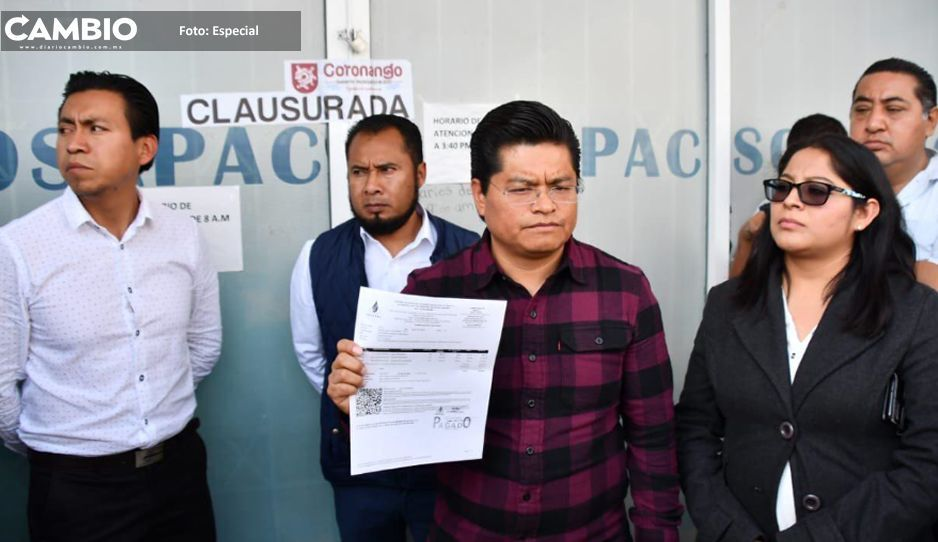 Edil de Coronango clausura Sosapac  porque Cuautlancingo violó acuerdo