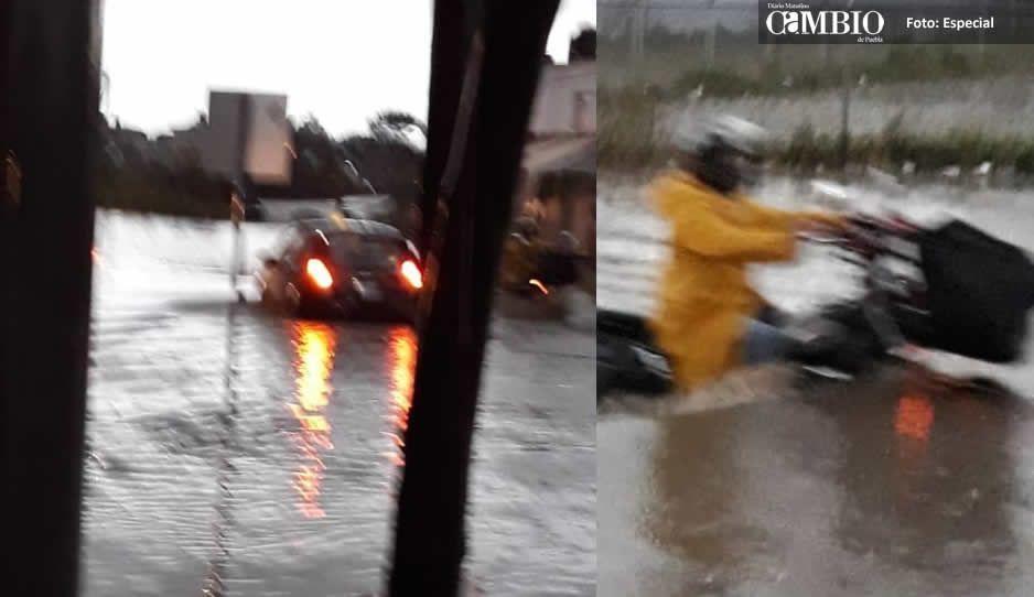 Nadan los autos en Puebla tras inundación por intensa lluvia (FOTOS y VIDEOS)