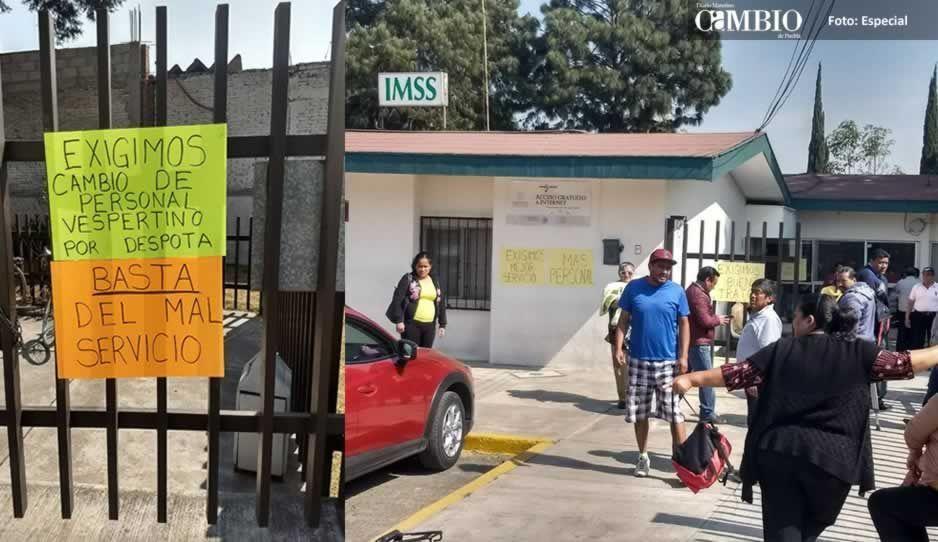 Derechohabientes toman instalaciones de clínica IMSS de Xoxtla