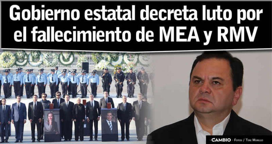 Decretan luto estatal por la muerte de MEA: bandera a media asta por 3 días