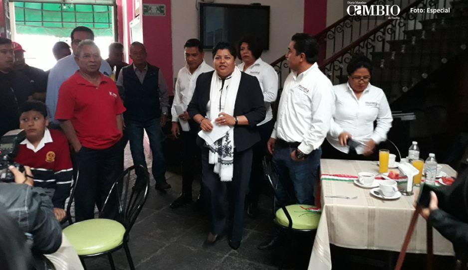 Karina Pérez Popoca se deslinda de  las obras inconclusas en San Andrés
