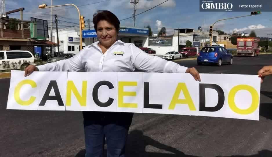 Candidata del PRD cancela Plan de Movilidad Urbana en Cholula