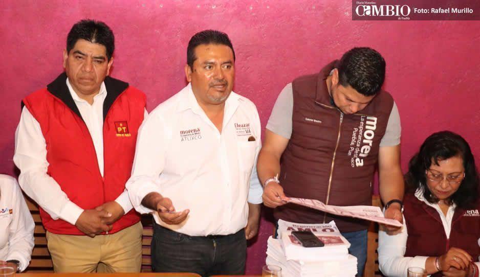 Eleazar Pérez acusa guerra sucia para anular votos de Morena en Atlixco