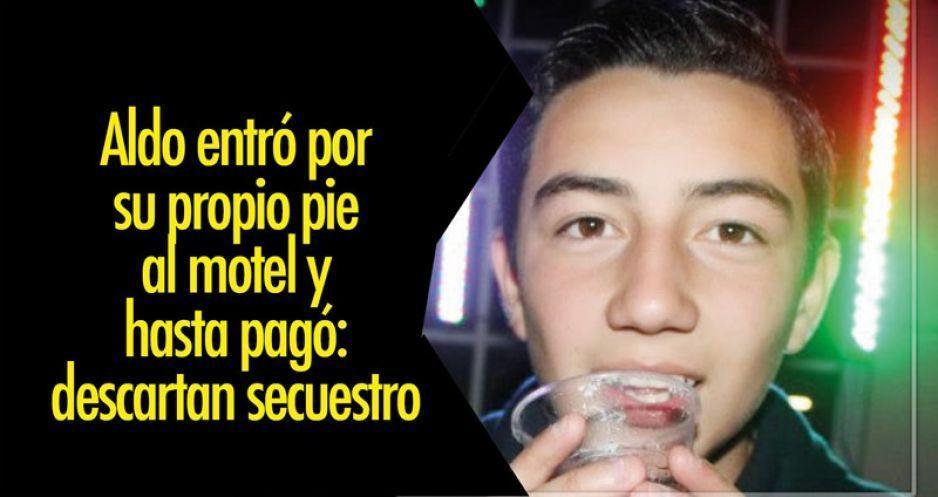 Aldo entró por su propio pie al motel y hasta pagó: descartan secuestro