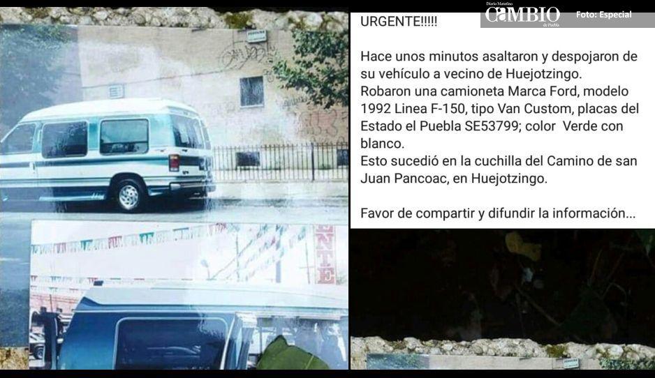 Imparables los robos de vehículos en Huejotzingo