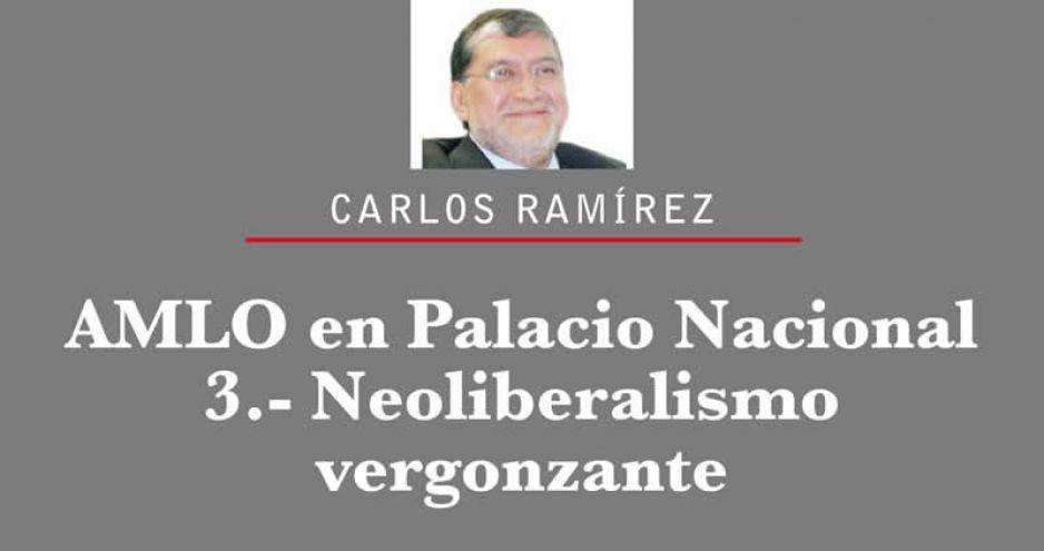 AMLO en Palacio Nacional 3.- Neoliberalismo vergonzante