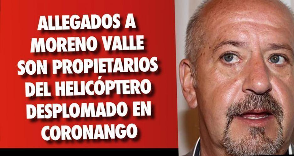 Allegados a Moreno Valle son propietarios  del helicóptero desplomado en Coronango