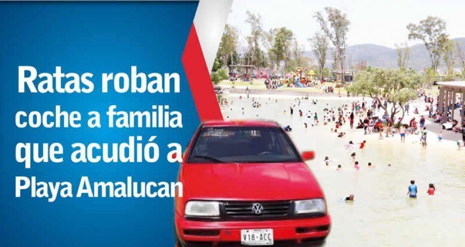 Ratas roban coche a familia que acudió a Playa Amalucan