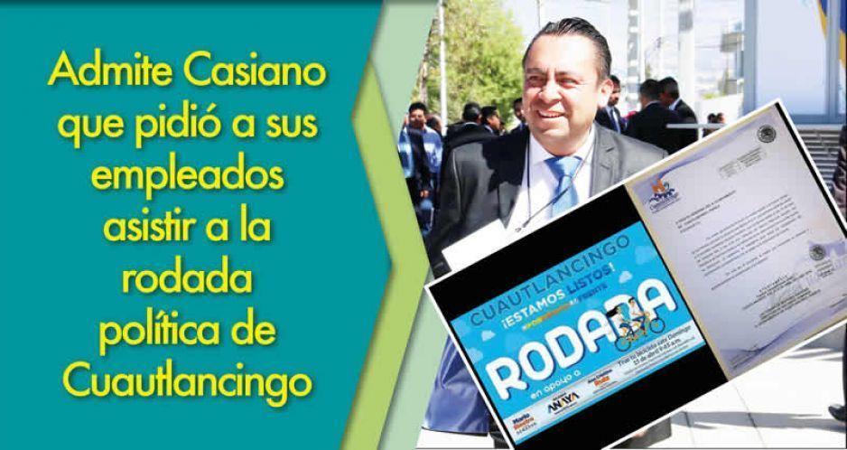 Edil de Cuautlancingo reconoce que organizó rodada para el PAN: invité a trabajadores, no los obligué