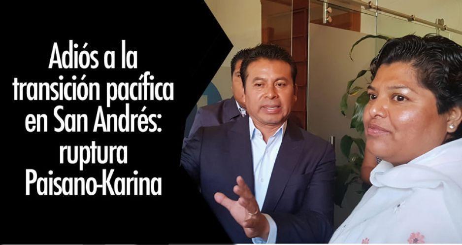 Adiós a la transición pacífica en San Andrés: ruptura Paisano-Karina