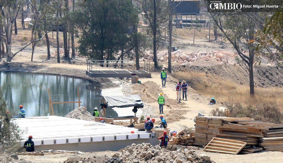 Obras del Parque de Amalucan llevan un avance del 60 por ciento (FOTOS)