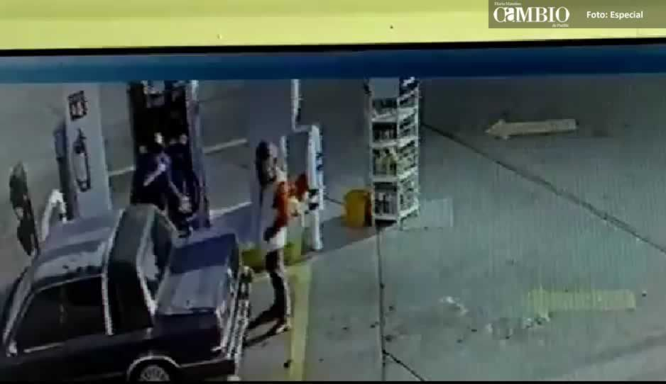 Atracan gasolinera en Texmelucan dos veces el mismo día (VIDEO)