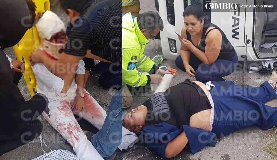 Aparatosa volcadura de unidad de la SSA deja dos enfermeras lesionadas, una de gravedad (FOTOS)