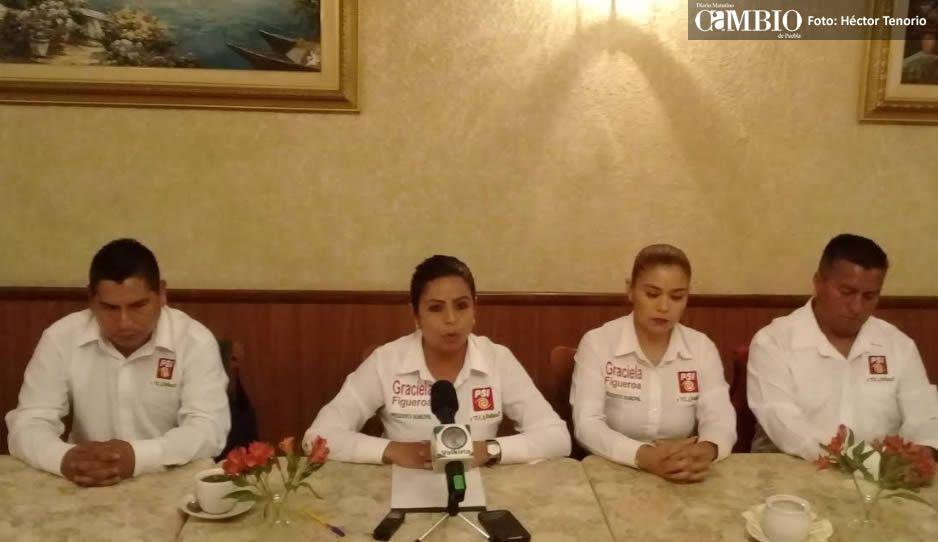 Candidata de Morena en Texmelucan agrede y amenaza a candidato a regidor de PSI