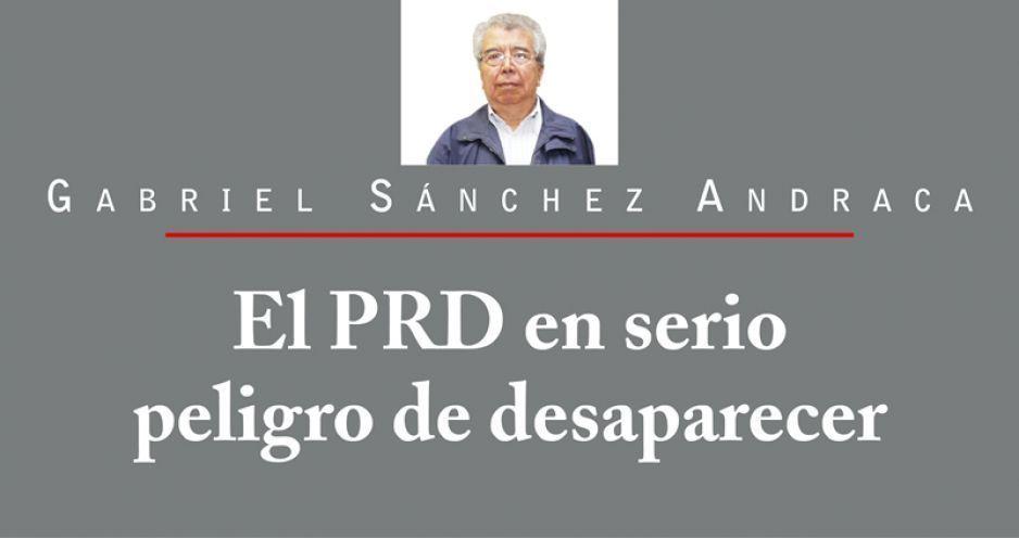El PRD en serio peligro de desaparecer