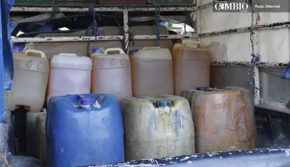 Reportan bodegas de huachicol en Tlahuapan