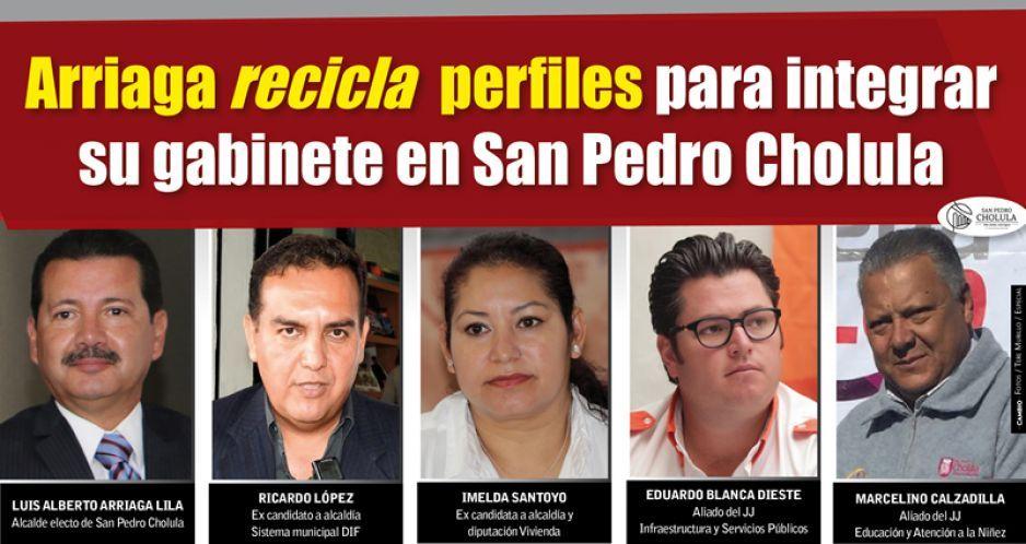 Arriaga recicla funcionarios de JJ y ex candidatos para su gabinete en San Pedro