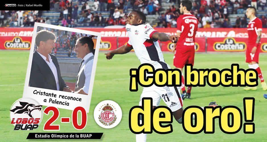 Lobos cierra torneo  con victoria ante Toluca