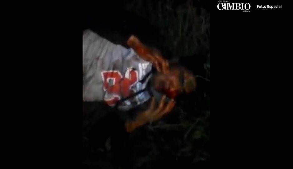 Brutal golpiza reciben asaltantes de taxista en Amozoc