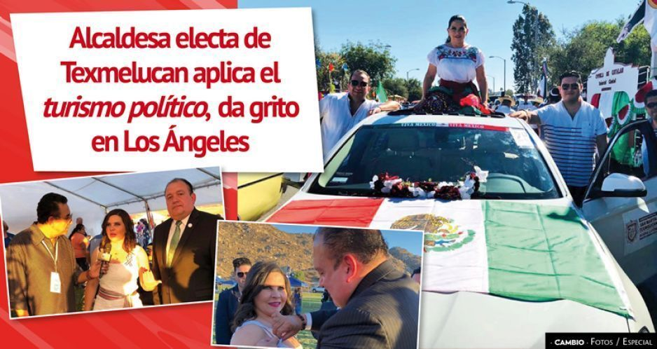 Alcaldesa electa de Texmelucan aplica el turismo político, da grito en Los Ángeles