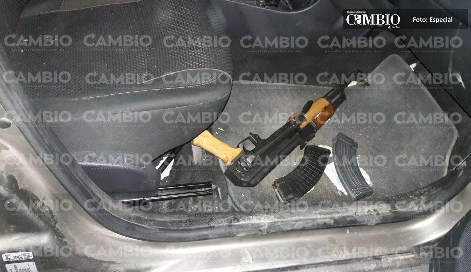 Grupo Fortaleza II asegura armamento en Texmelucan, no se reporta ningún detenido